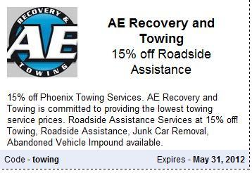 Glendale Towing and Roadside Assistance Discount Coupon